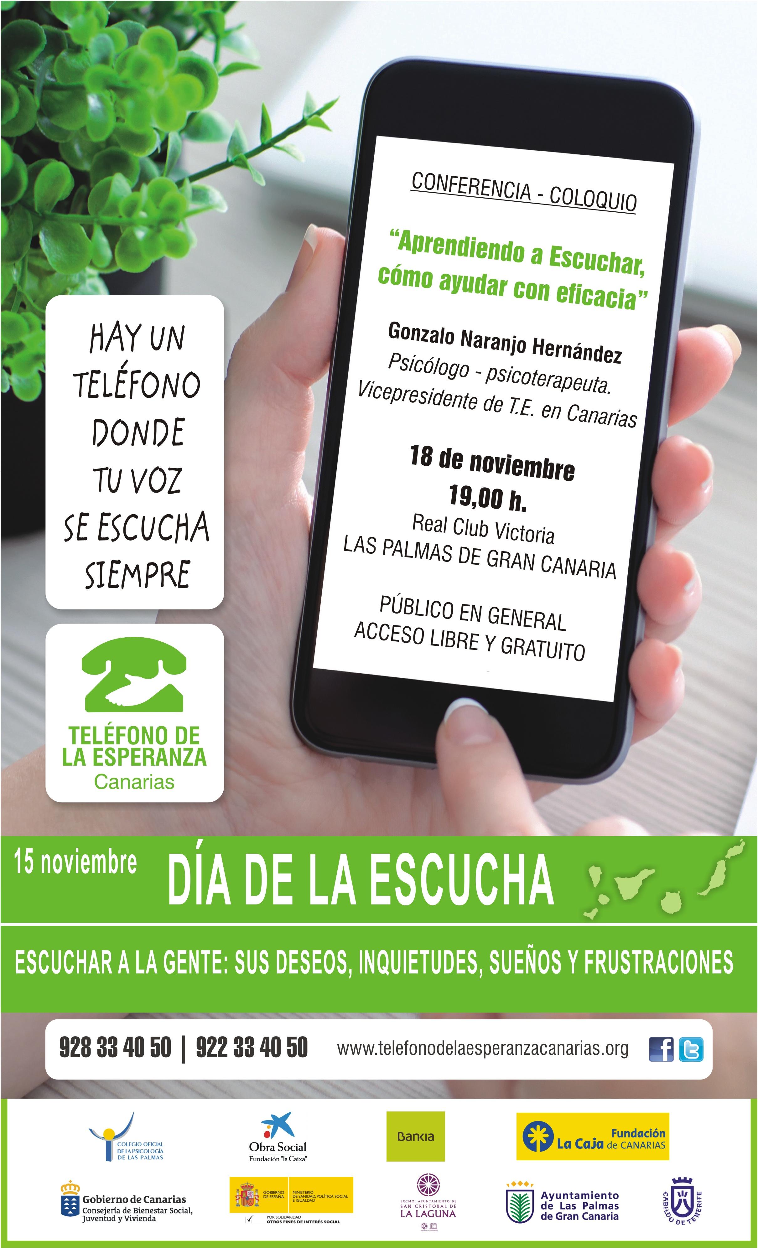 Cartel Día de la Escucha 2015 Canarias