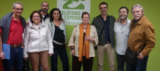 Reunión del equipo motor de Teléfono de la Esperanza en Tenerife