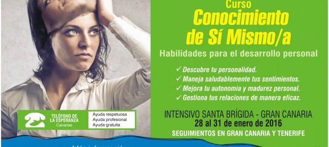 """MATRÍCULA CERRADA – Curso """"Conocimiento de Sí Mism@"""". 1º Módulo Programa Agentes de Ayuda 2016."""