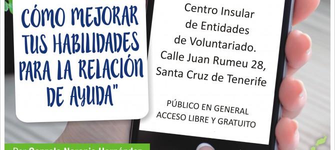 """Conferencia en Tenerife: """"Ayudando con eficacia: cómo mejorar tus habilidades para la relación de ayuda"""""""