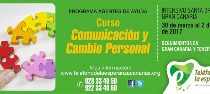 """MATRÍCULA CERRADA – Curso """"Comunicación y Cambio Personal"""" – 2º Módulo Programa Agentes de Ayuda 2017"""