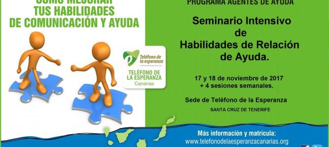 Seminario Intensivo Habilidades de Relación de Ayuda – Tenerife. Semana de la Escucha.