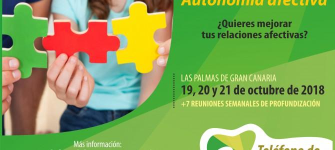 """Curso """"Autonomía Afectiva"""" en Gran Canaria: Construyendo vínculos sanos con los demás."""