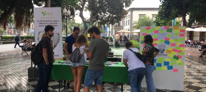El 5% de los participantes en una encuesta ha intentado suicidarse alguna vez. Campaña del T.E. Canarias para la Prevención del Suicidio.