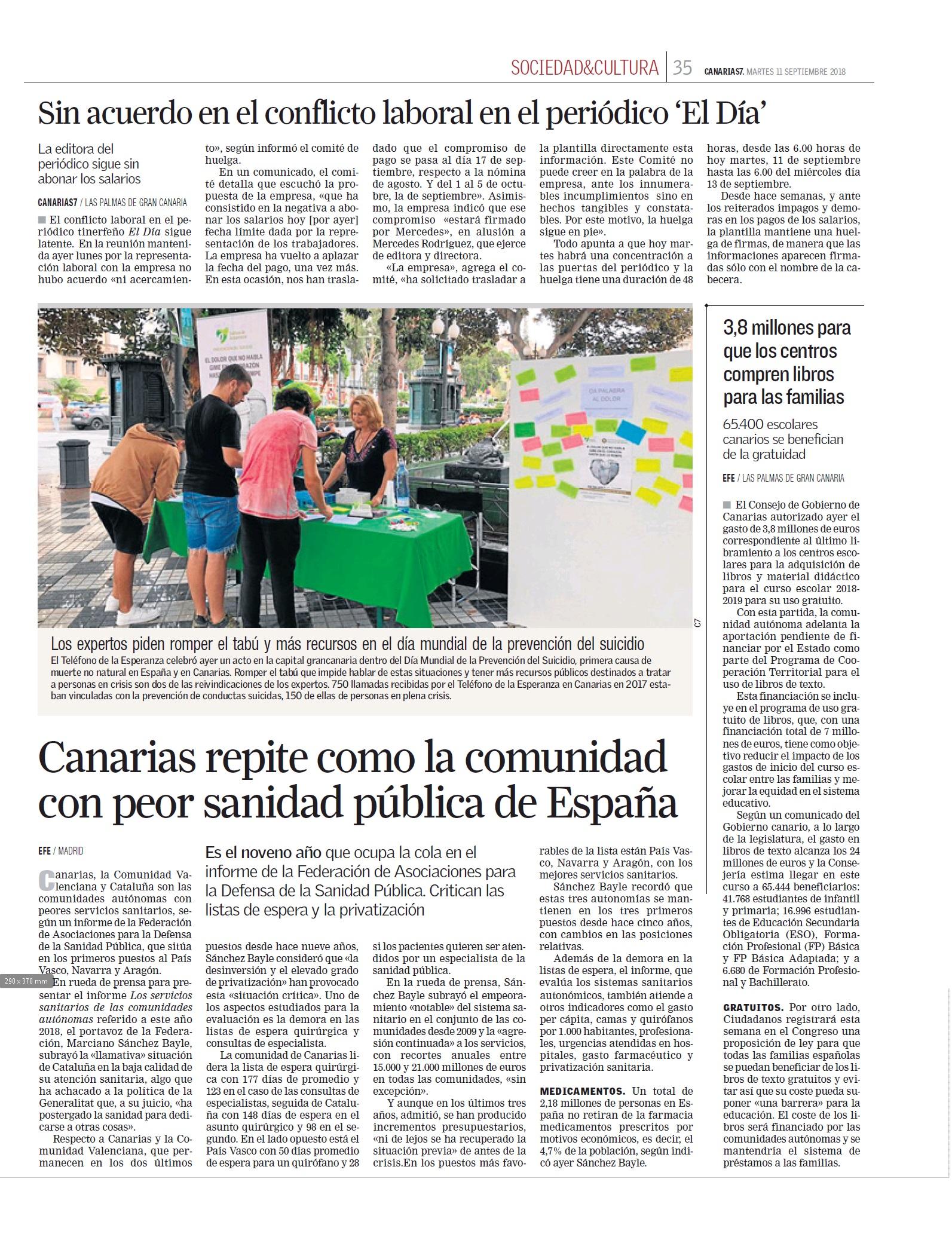 NOTICIA MESA INFORMATIVA PREV SUICIDIO CANARIAS 7 11.9.18