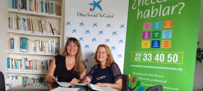 Fundación Obra Social La Caixa cofinancia un proyecto de Teléfono de la Esperanza en Canarias