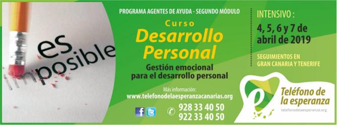 """Curso """"Desarrollo Personal"""" – 2º Módulo Programa Agentes de Ayuda 2019"""