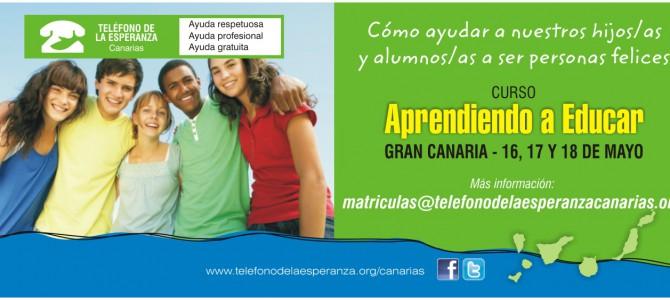 """Matrícula Cerrada- Curso en Las Palmas """"Aprendiendo a Educar: Habilidades para Madres, Padres y Educadores/as."""""""