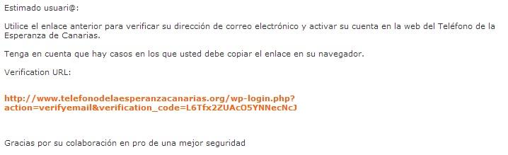 Email de verificacion