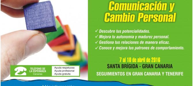 """MATRICULA CERRADA – Curso """"Comunicación y Cambio Personal"""". 2º Módulo del Programa Agentes de Ayuda 2016."""