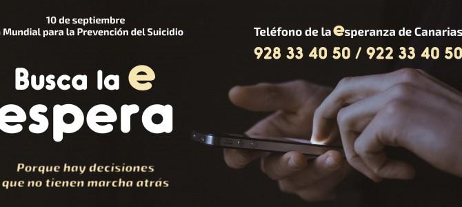 10 de septiembre Día Internacional para la Prevención del Suicidio. Nota de Prensa T.E. Canarias.