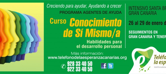 """MATRÍCULA CERRADA – Curso """"Conocimiento de Sí Mism@"""". 1º Módulo Programa Agentes de Ayuda 2017."""