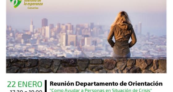 """""""Cómo Ayudar a Personas en Situación de Crisis"""". Formación Permanente de Enero del equipo de Teléfono de la Esperanza de Canarias"""