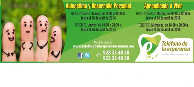 """Cursos – Taller de Desarrollo Personal en Tenerife y Gran Canaria: """"Aprendiendo a Vivir"""" y """"Autoestima y Desarrollo Personal"""""""