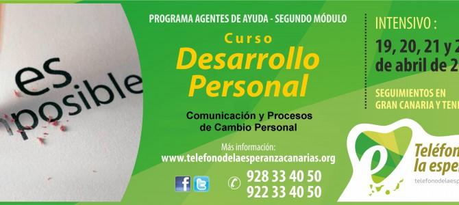 """Curso """"Desarrollo Personal"""" – 2º Módulo Programa Agentes de Ayuda 2018"""