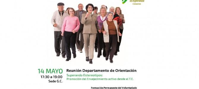 Superando estereotipos: Promoción del Envejecimiento Activo. Tema de formación del Departamento de Orientación por teléfono