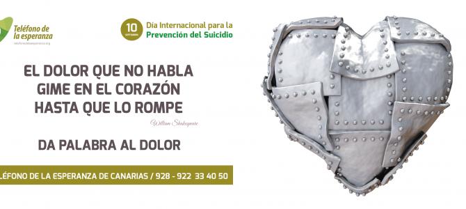 """""""Mitos y Realidades en la Prevención del Suicidio"""" Conferencias lunes 10 sept. en Tenerife y Gran Canaria"""