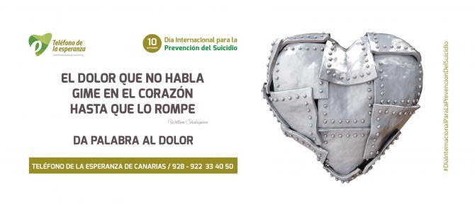 Nota de Prensa. 10 sept. Día Internacional Prevención del Suicidio – Campaña T.E. Canarias
