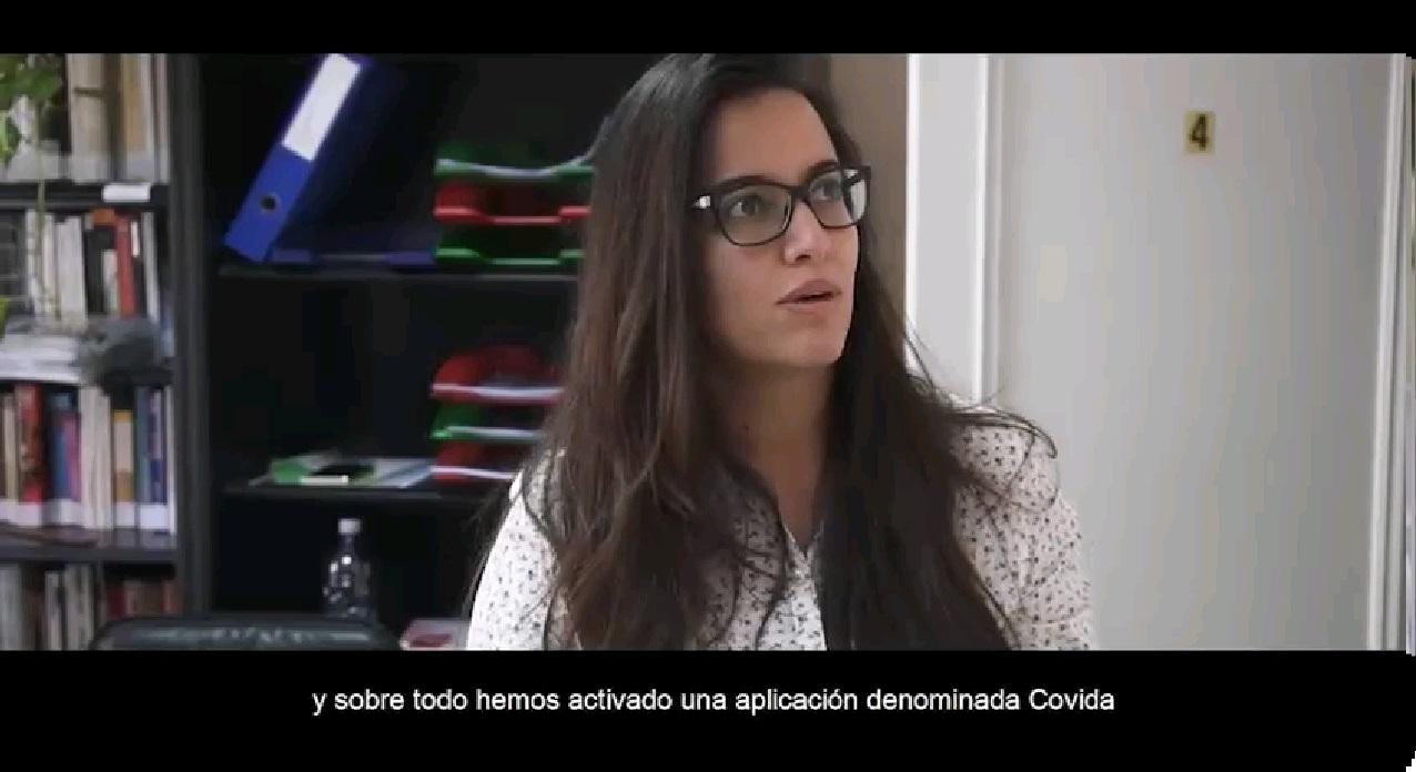 captura video disa T.E.5 SILVIA HABLANDO COVIDA