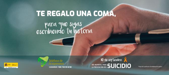 Nota de Prensa. 10 de septiembre Día Internacional para la Prevención del Suicidio. Campaña T.E. Canarias 2020.