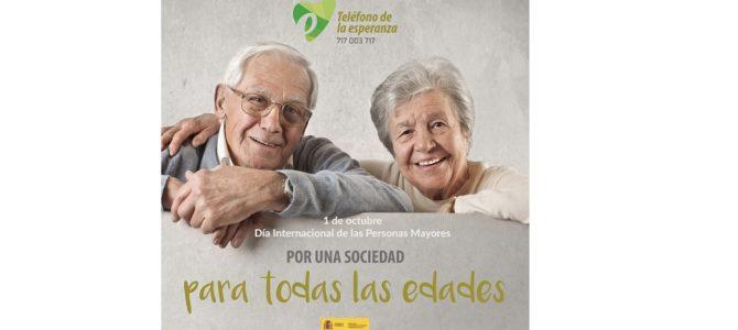 Teléfono de la Esperanza de Canarias en la campaña del 1 de octubre con su proyecto de Mayores