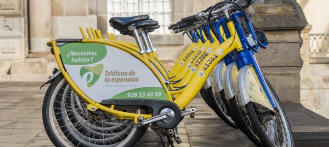 Teléfono de la Esperanza recorrerá a diario las calles de Las Palmas de G.C. en Sitycleta